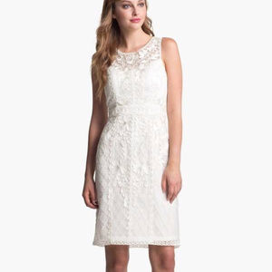 SUE WONG Embroidered LaceTulle Sheath Dress 0 #185